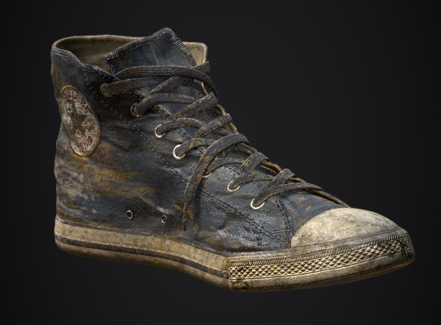 3D model Converse Shoe grudge texture | CGTrader