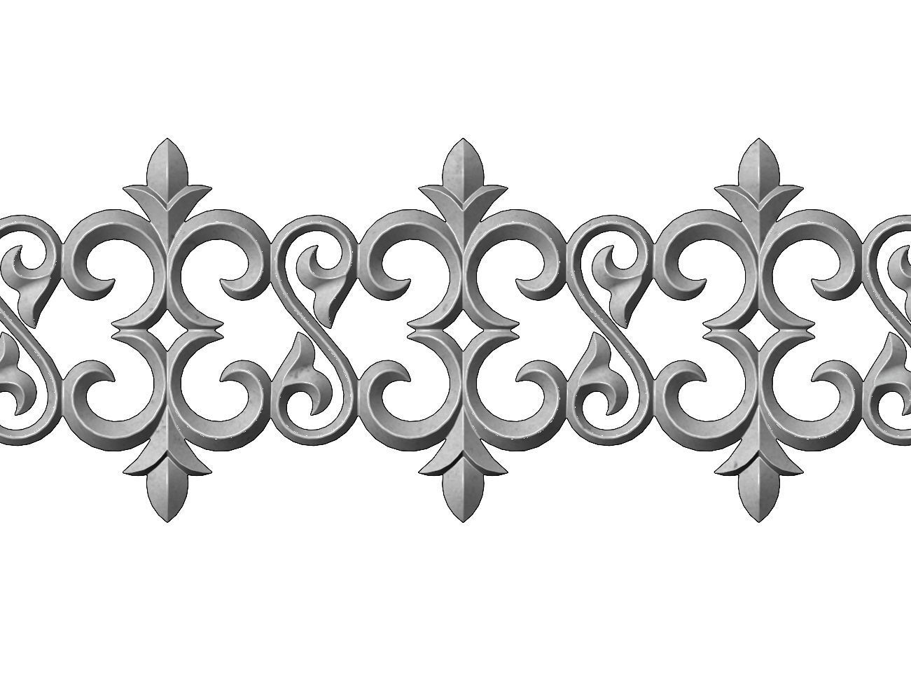 Floral scroll pattern relief strip