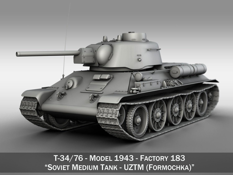 T-34-76 UZTM - Model 1943 - Soviet Medium Tank