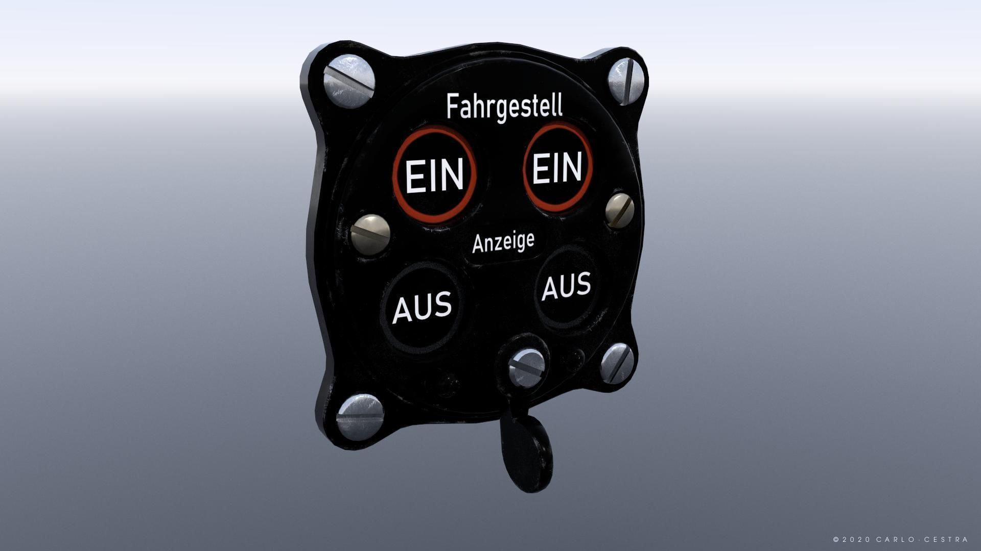 GERMAN UNDER CARRIAGE POSITION INDICATOR