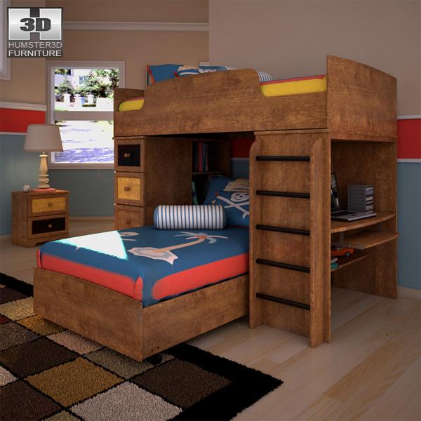 3D model Ashley Alexander Youth Loft Bedroom Set