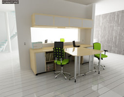 3D model game-ready Office Set