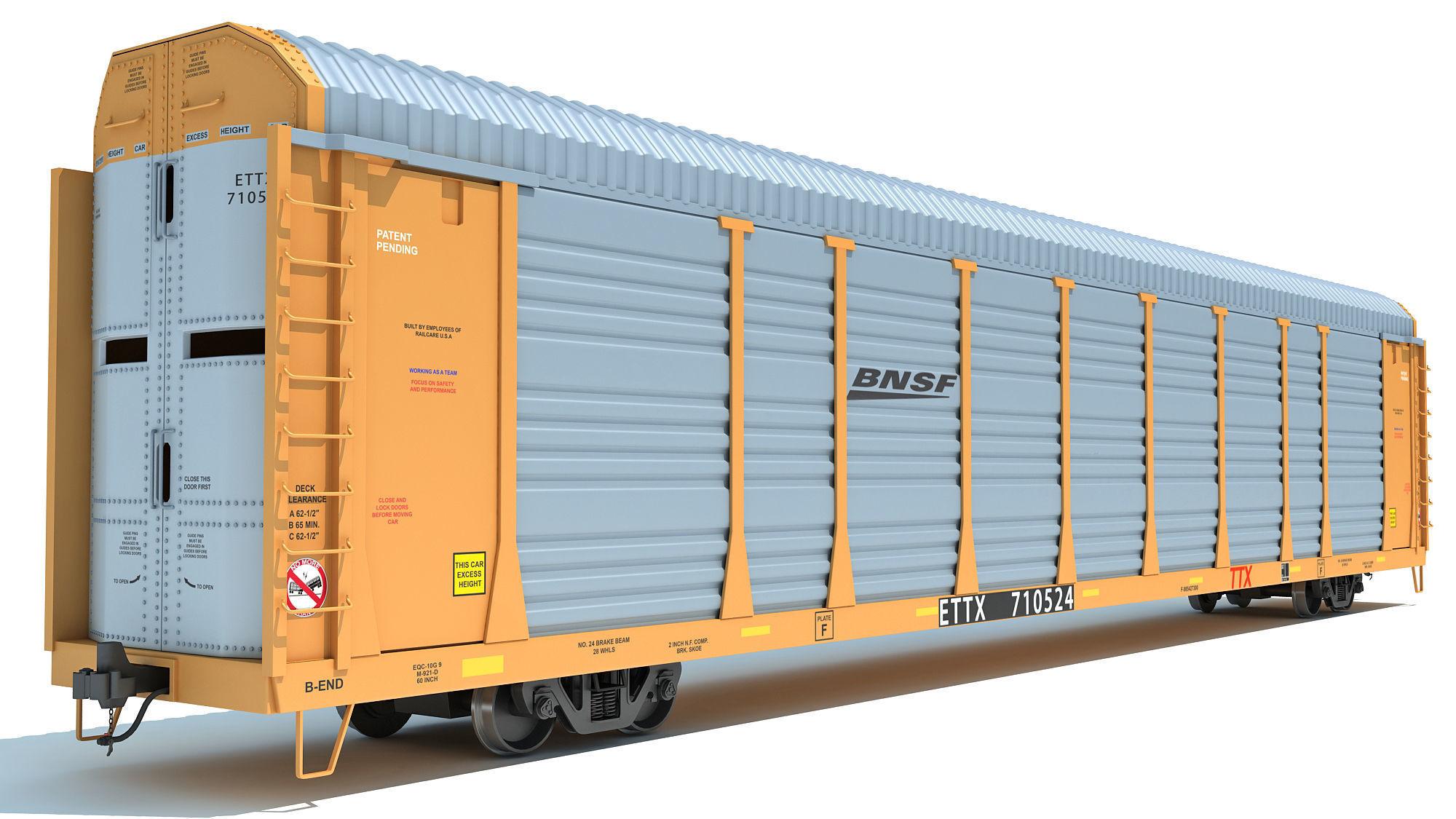 BNSF Auto Carrier Railroad Car