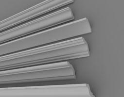 3D model Architectural Plaster Decorations 4