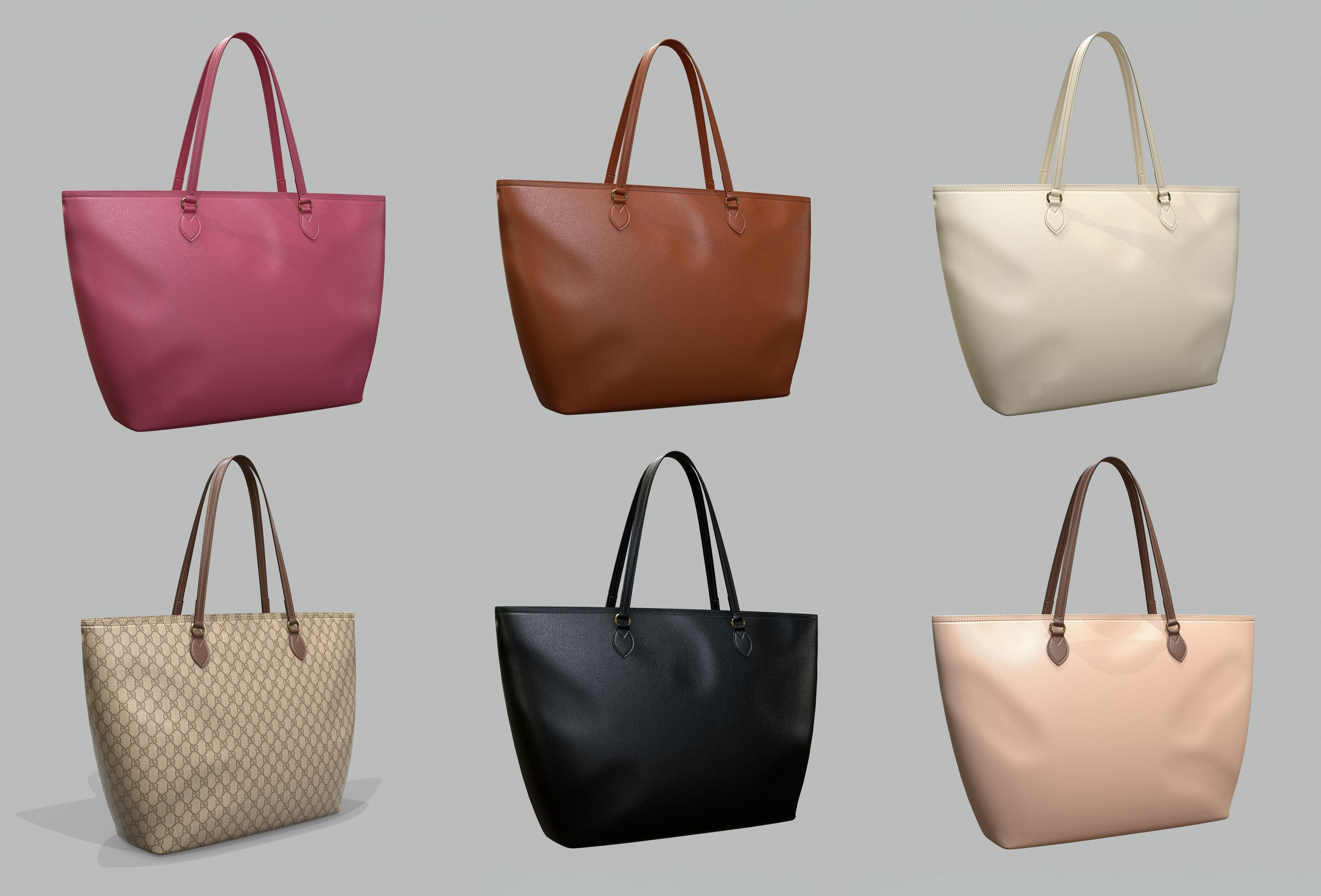 Gucci Women Ophidia GG Medium Tote Bag 6 colors Leather