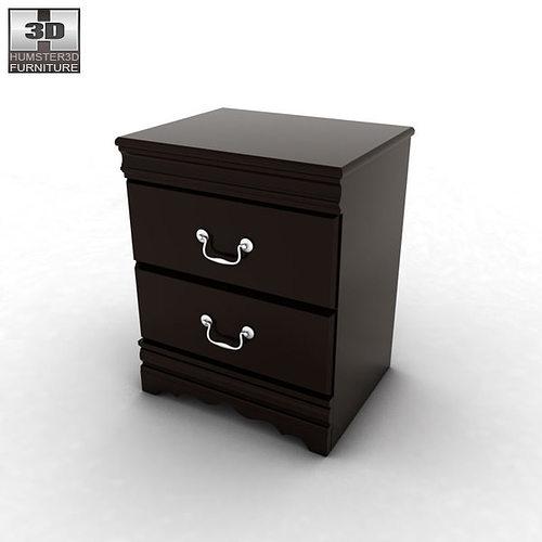Ashley Huey Vineyard Sleigh Bedroom Set 3d Model Max Obj 3ds Fbx C4d Lwo Lw  Lws