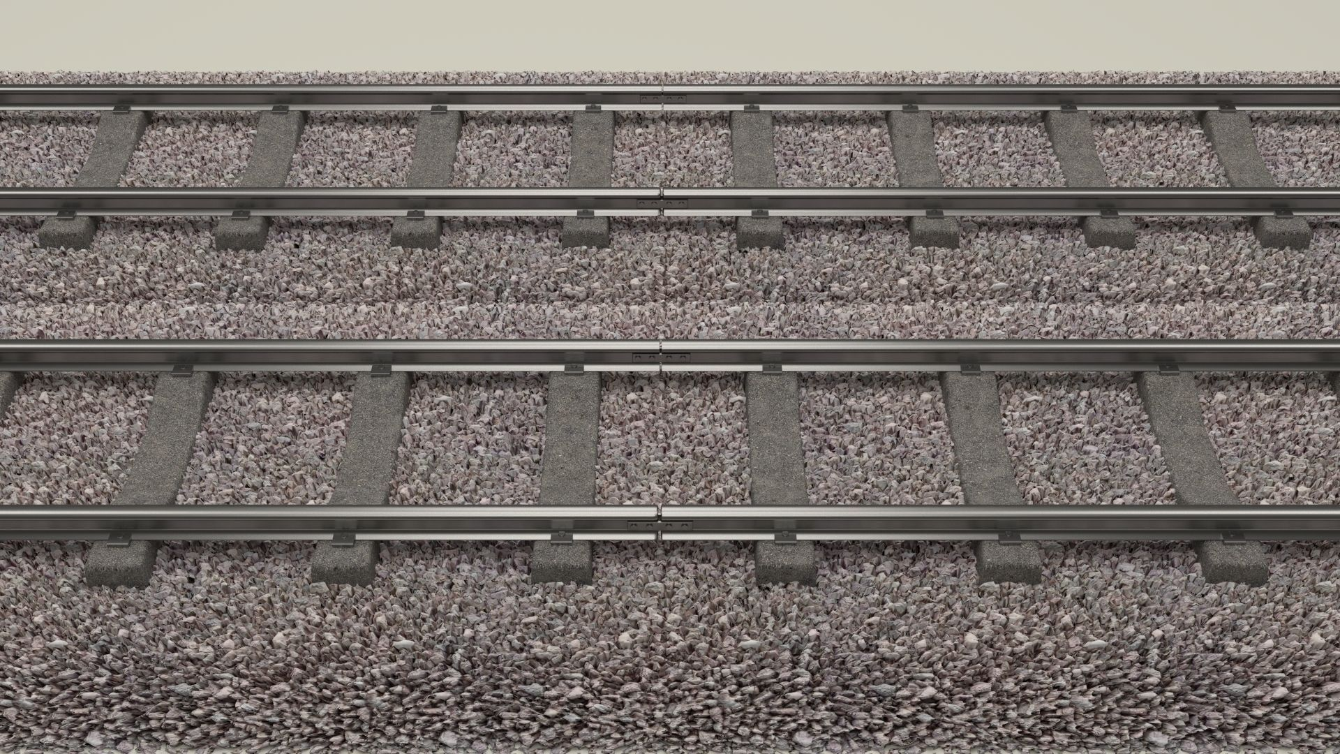 Train Track Double   3D model