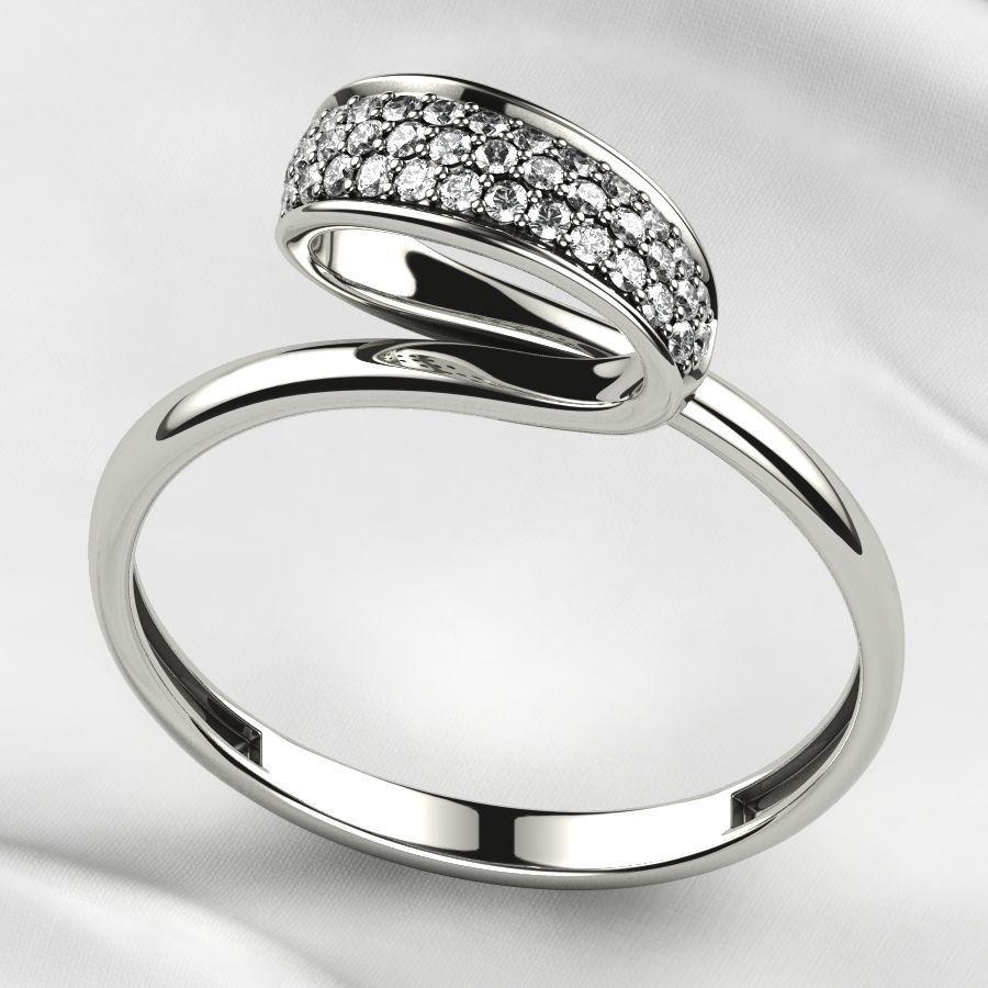 Pave Set Gems Gold Ring