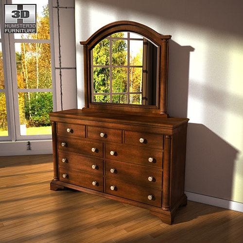 3d model ashley leighton poster bedroom set vr ar low