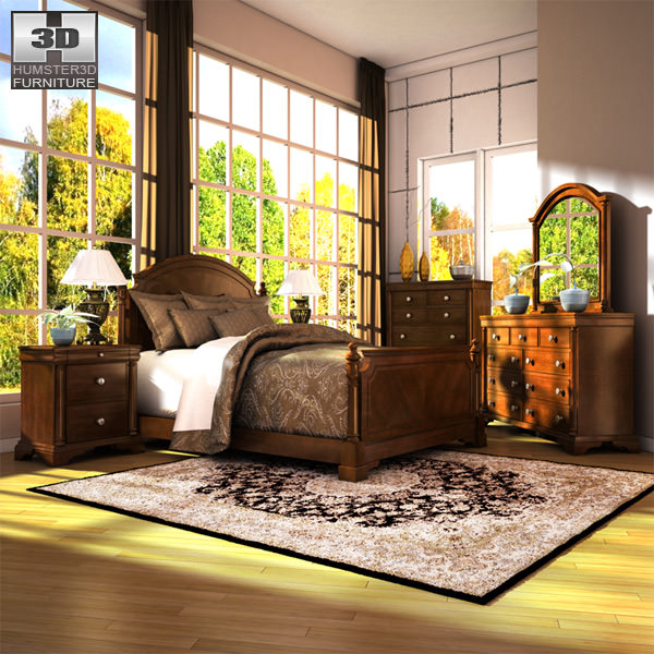 Ashley Leighton Poster Bedroom Set 3D asset | CGTrader