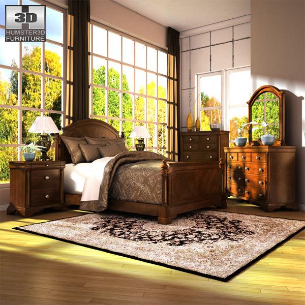 Ashley Leighton Poster Bedroom Set 40D Model Custom Queen Poster Bedroom Sets Concept