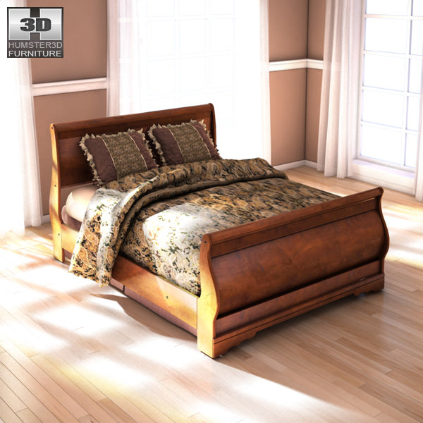ashley wilmington queen sleigh bed 3d model max obj 3ds fbx mtl 1. 3D asset Ashley Wilmington Queen Sleigh Bed   CGTrader