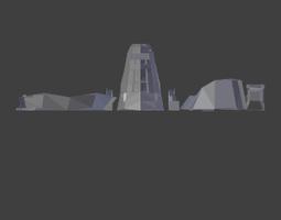 3D print model Uintatherium Head and Neck STL