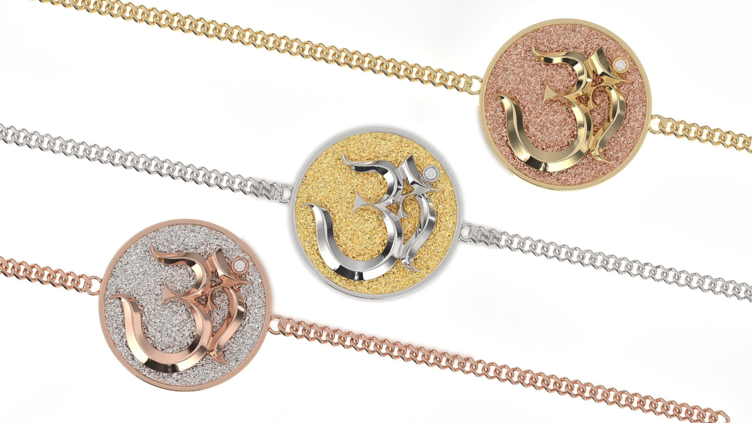 om soul bracelet pendant