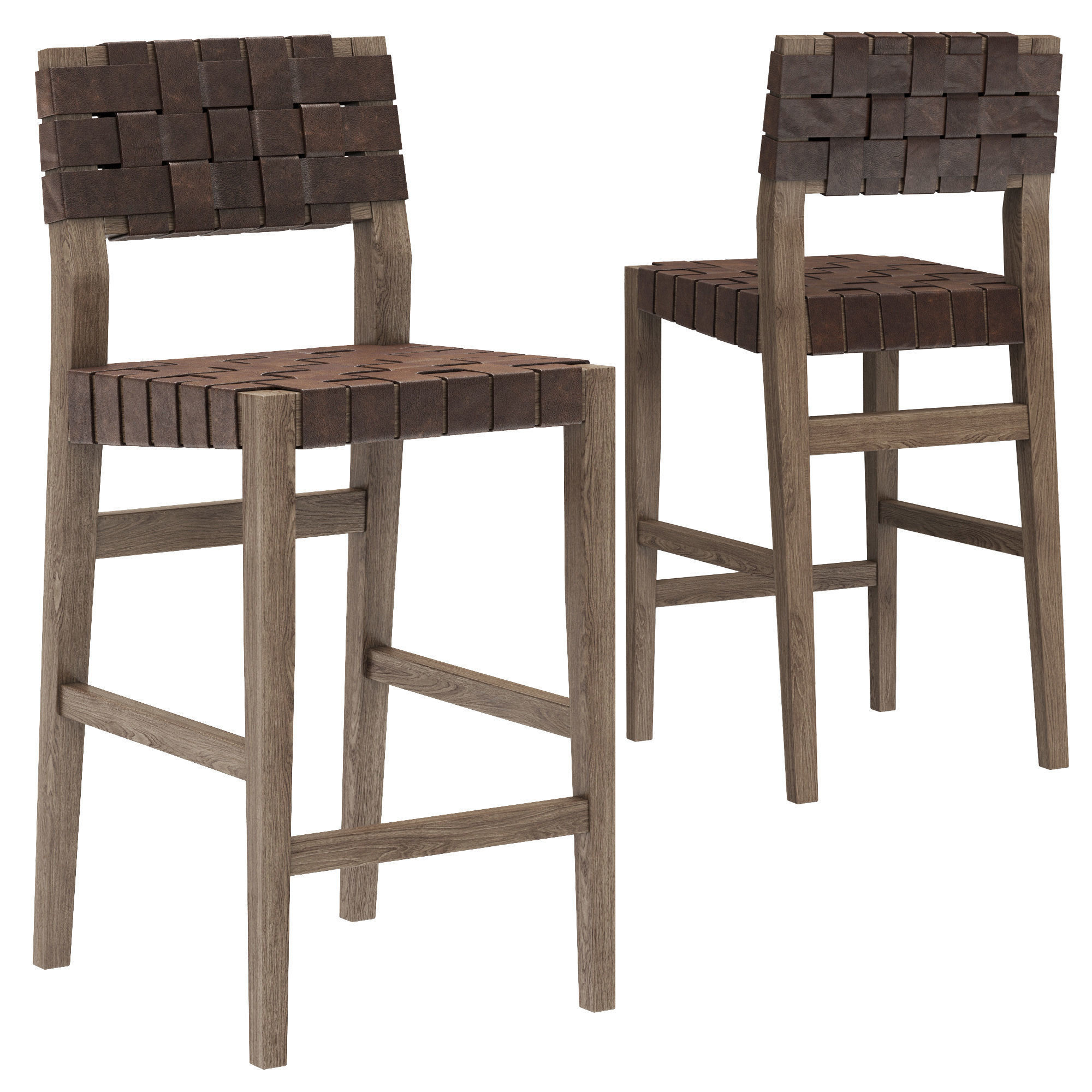 Restoration Hardware Vero Leather Stool