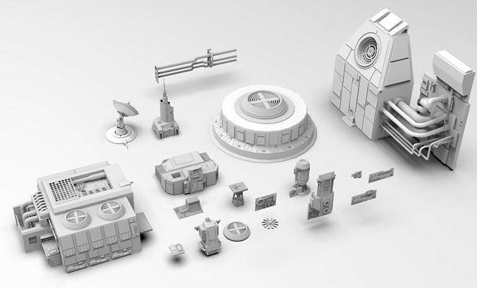Scifi dressing kitbash set