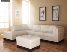 Leather Sofa Sectional Set 3D model