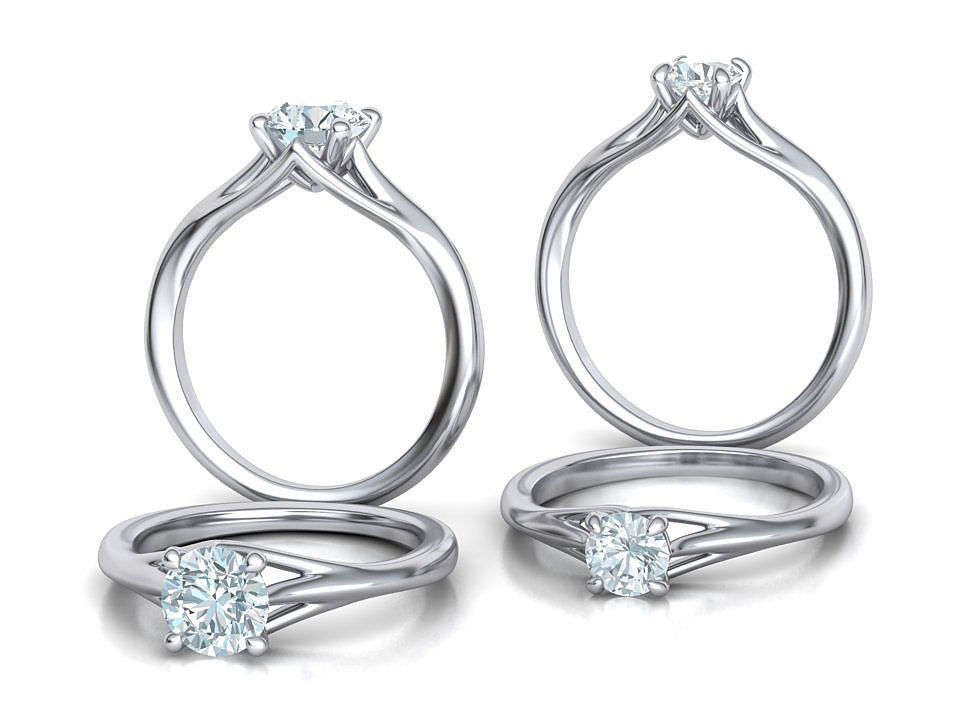 Solitaire Engagement ring Collection Half Carat and 1Ct Stones