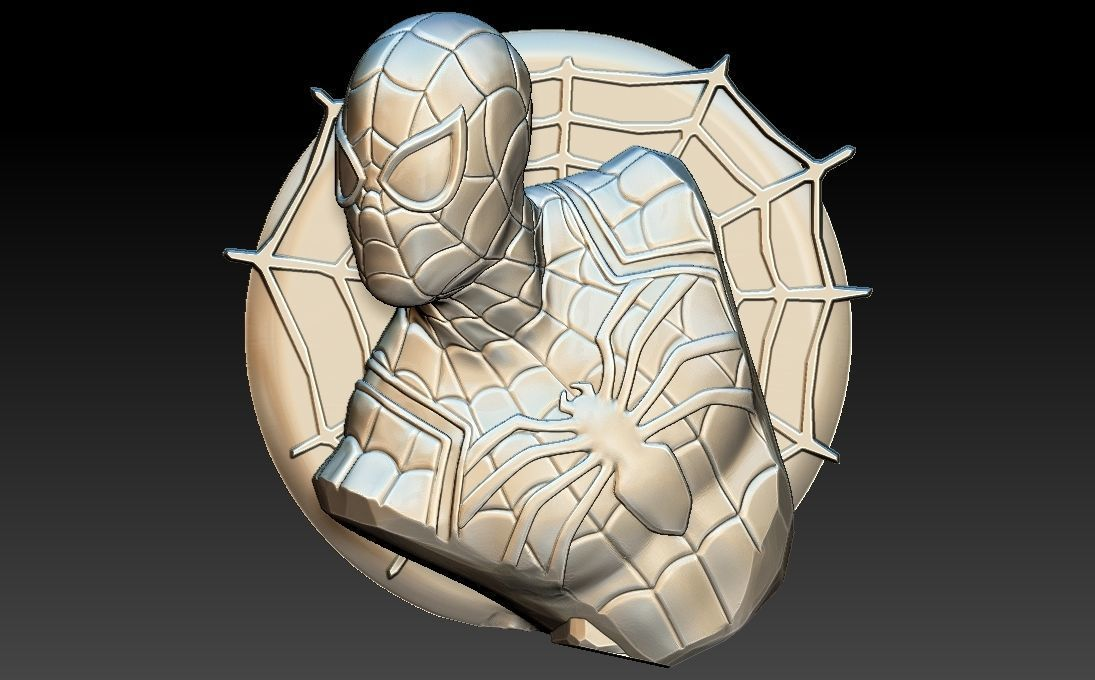Spiderman 3D STL Model for CNC Router