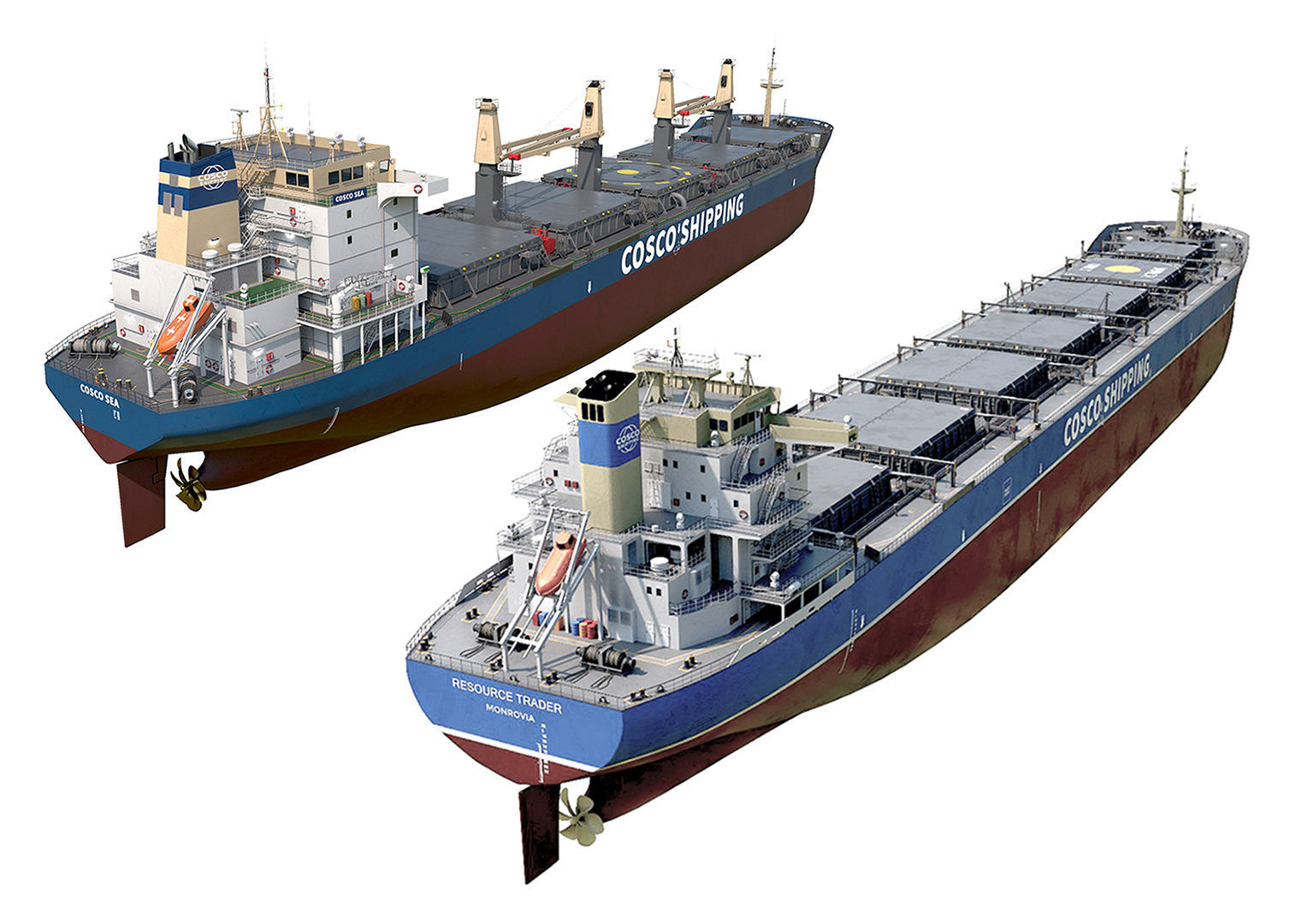 Pack Bulk carrier ships COSCO