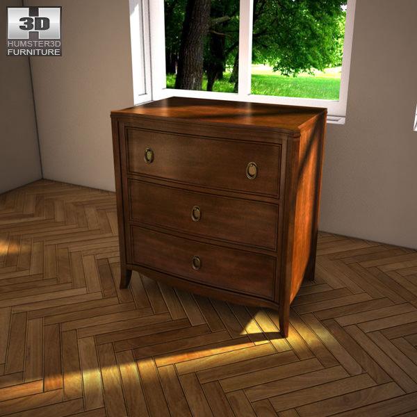 ashley ashlyn nightstand 3d model max obj 3ds fbx mtl 1