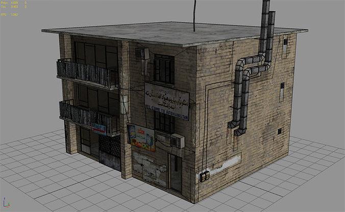 25 Afghanistan City Buildings Props For Games 3d Model Low Poly Max Obj 3ds  Fbx
