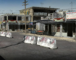 25 afghanistan city buildings props for games realtime 3d model