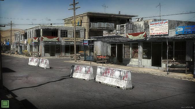 25 afghanistan city buildings props for games 3d model low-poly max obj mtl 3ds fbx dae mat 1