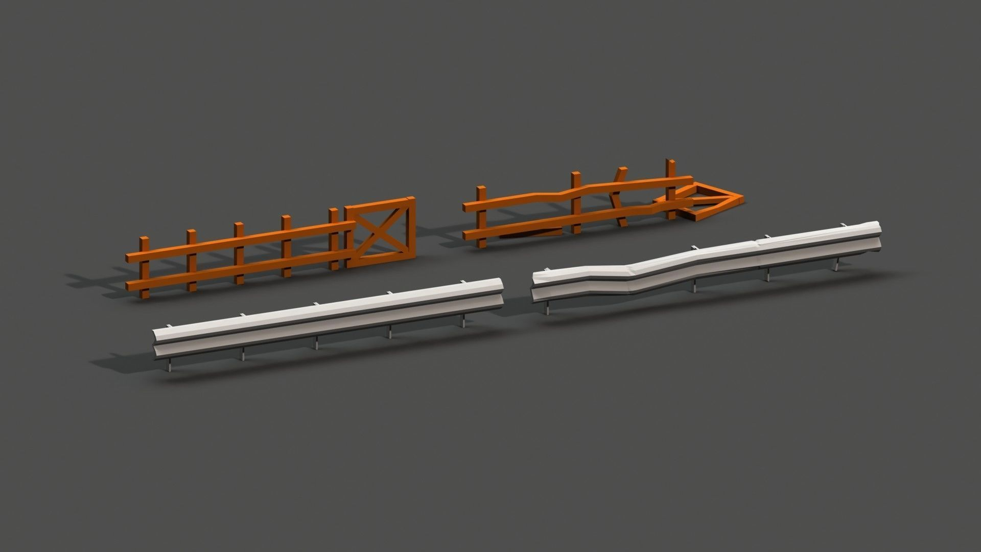 Post Apocalyptic Road Barrier and Wooden Fence