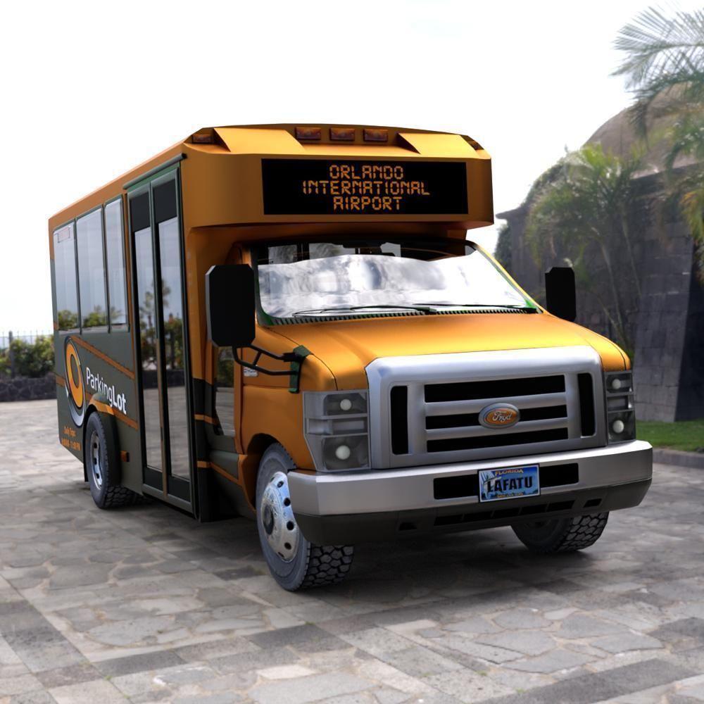 Shuttle Bus model in mutiple formats