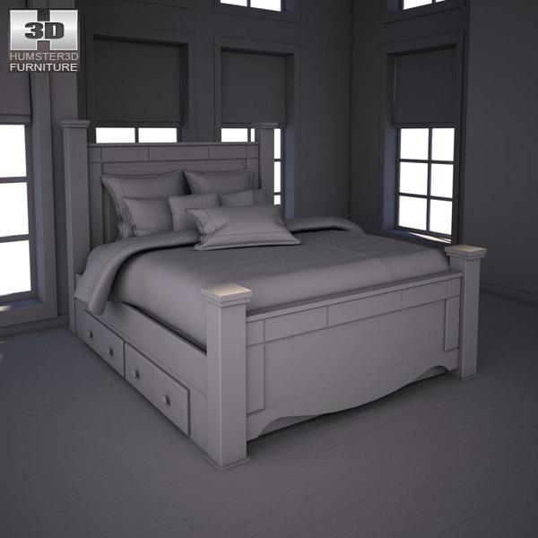 Ashley Shay Poster Bedroom Set 3D asset | CGTrader