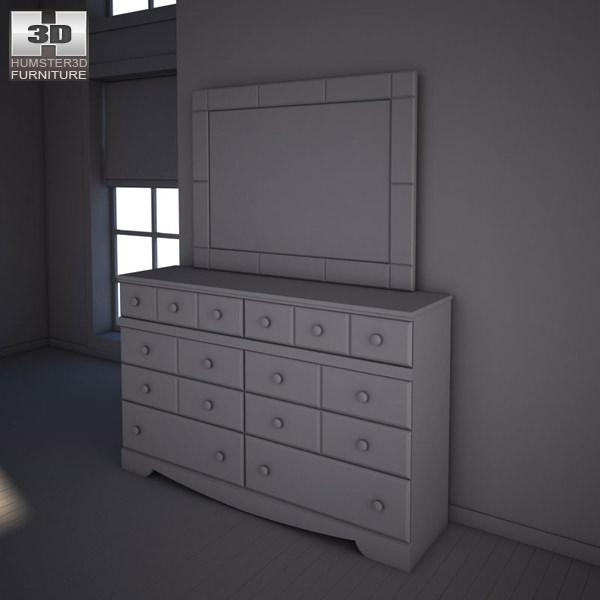 Ashley Shay Dresser Mirror Model Max Obj S Fbx Mtl 3
