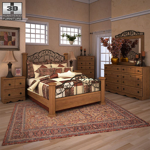 3d Asset Ashley Rosalie Poster Bedroom Set Cgtrader