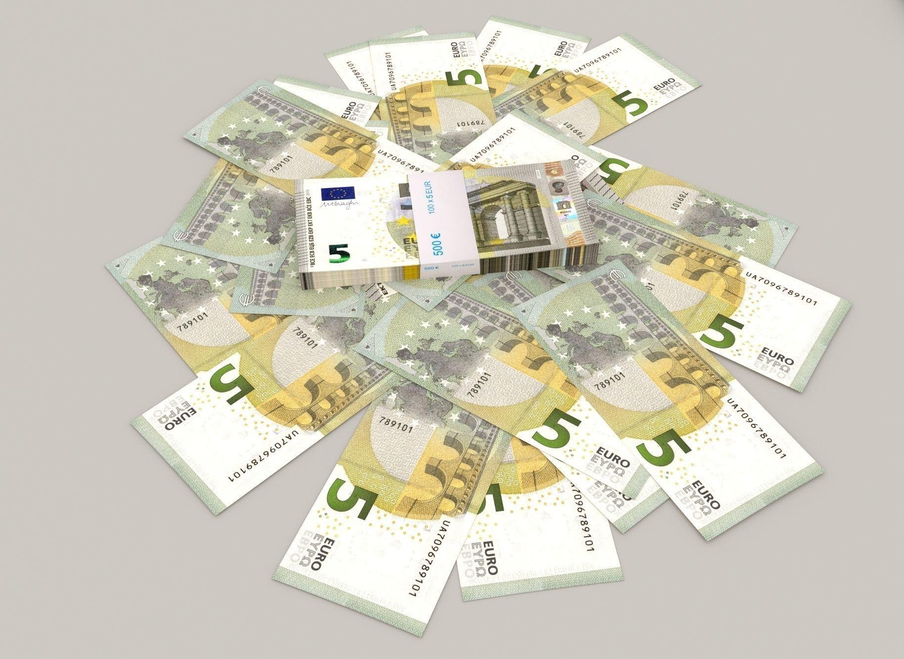 5 euro banknote packs