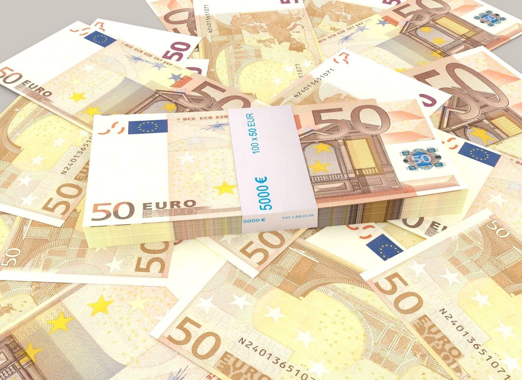 50 euro banknote packs