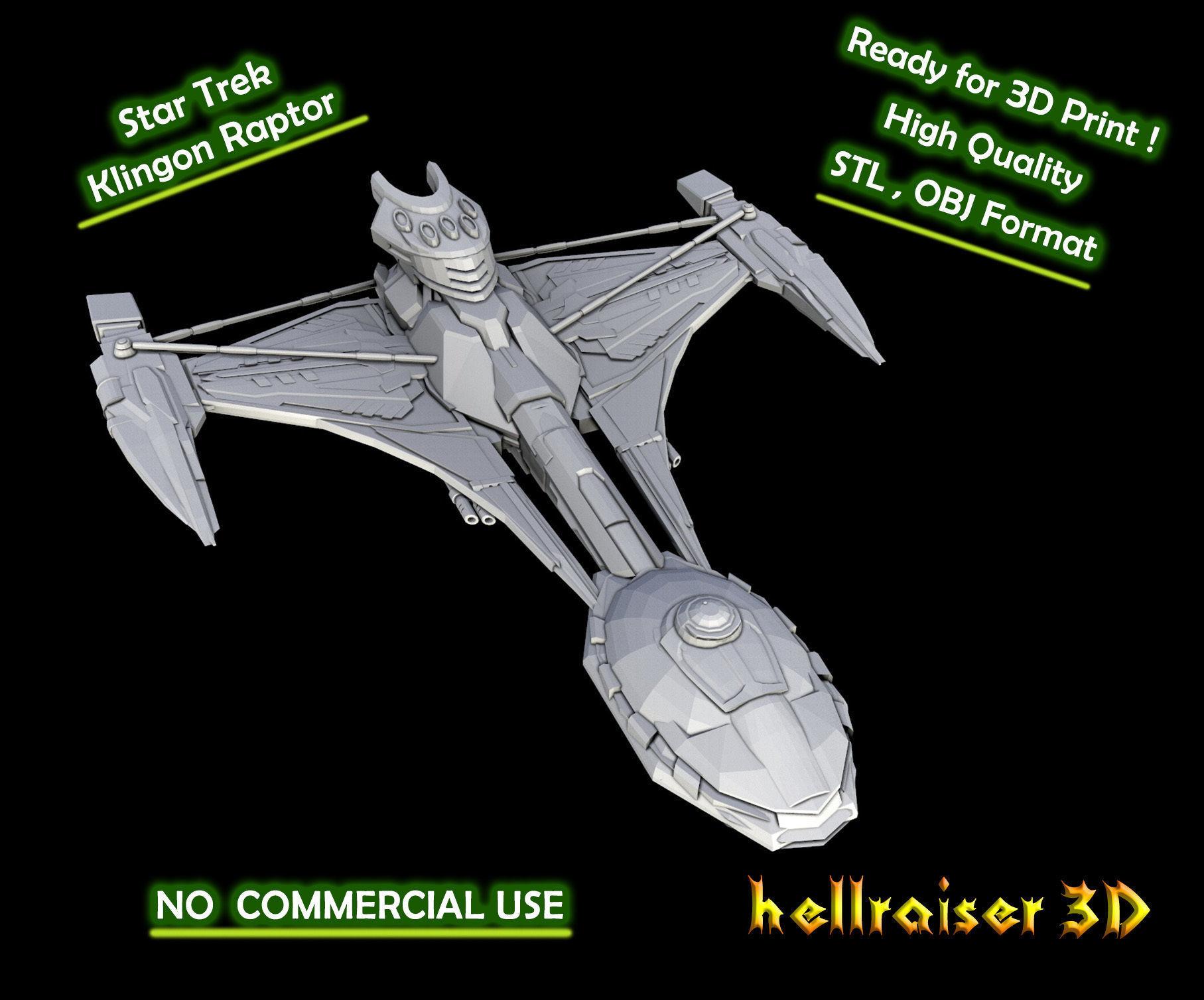 Star Trek - Klingon Raptor - 3D Printable Model