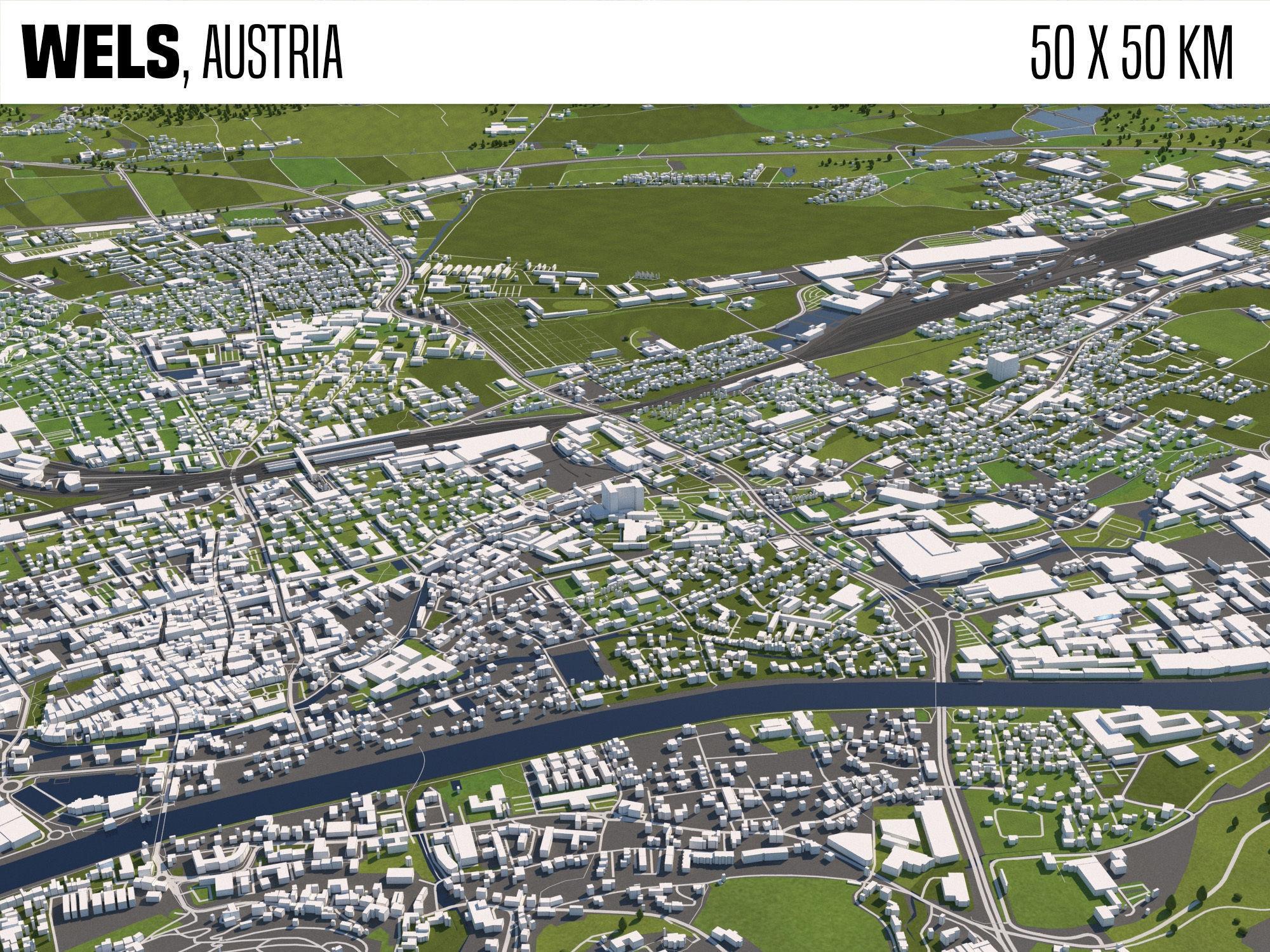 Wels Austria 50x50km