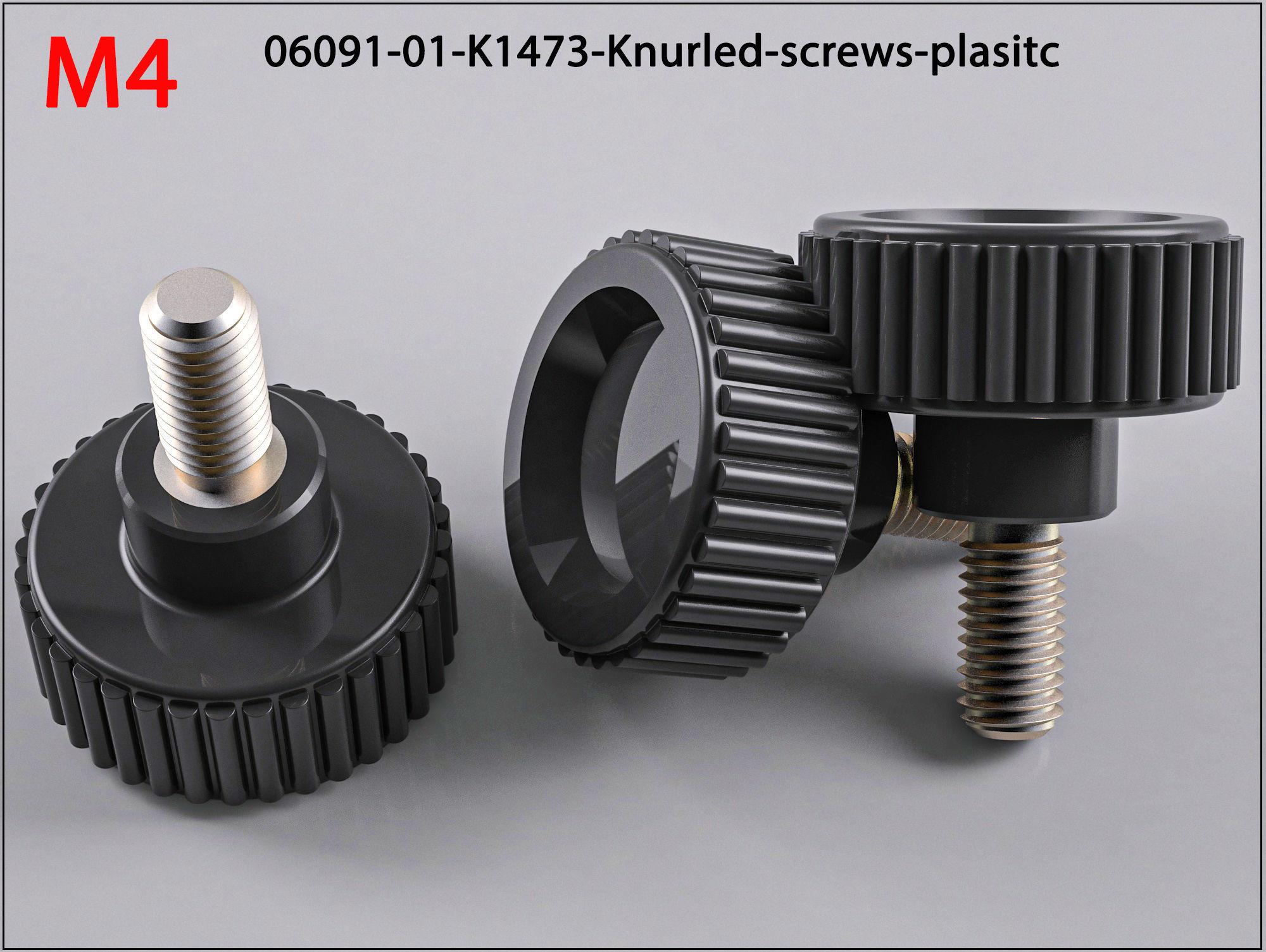 M4 Raendelschrauben-Kunststoff-Knurled-screws-plasitc