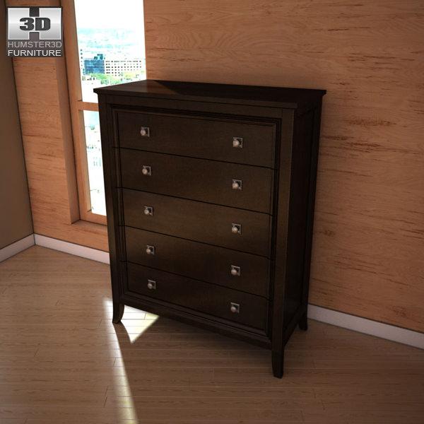 Wonderful ... Ashley Martini Suite Storage Bedroom Set 3d Model Max Obj 3ds Fbx Mtl 6  ...