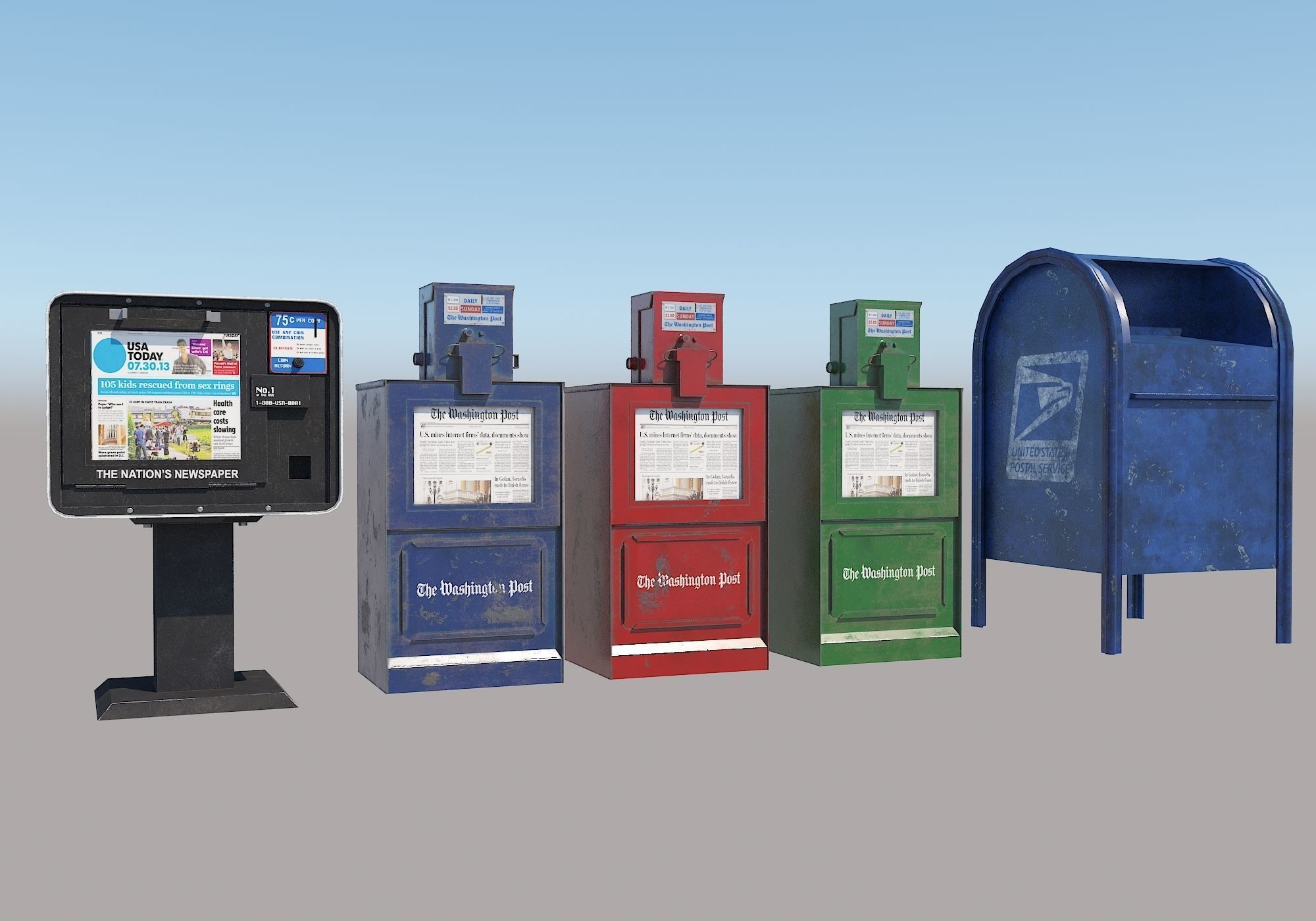 Newspaper Boxes Post box New York City