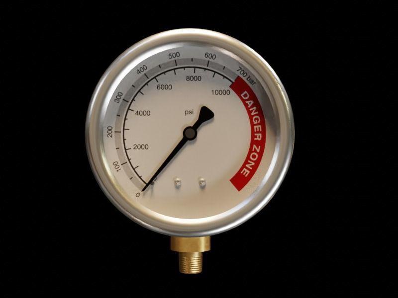 10000 PSI Pressure Gauge