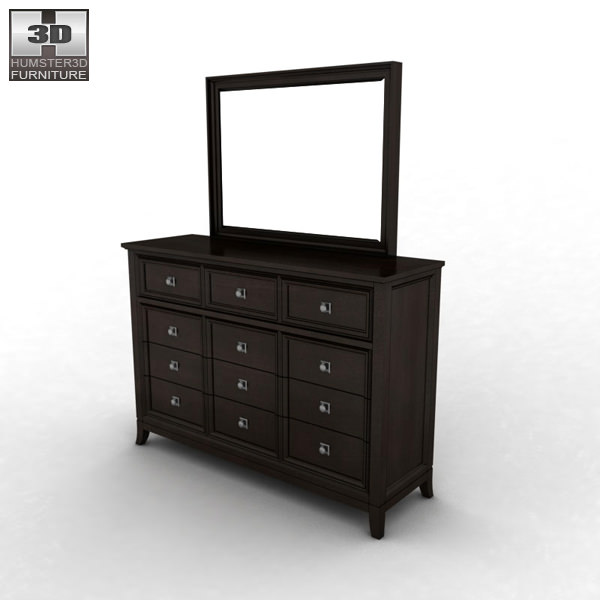 martini suite bedroom set.  ashley martini suite dresser mirror 3d model max obj 3ds fbx mtl 2 Ashley Martini Suite Dresser Mirror 3D CGTrader