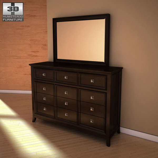 Ashley Martini Suite Dresser Mirror | 3D model
