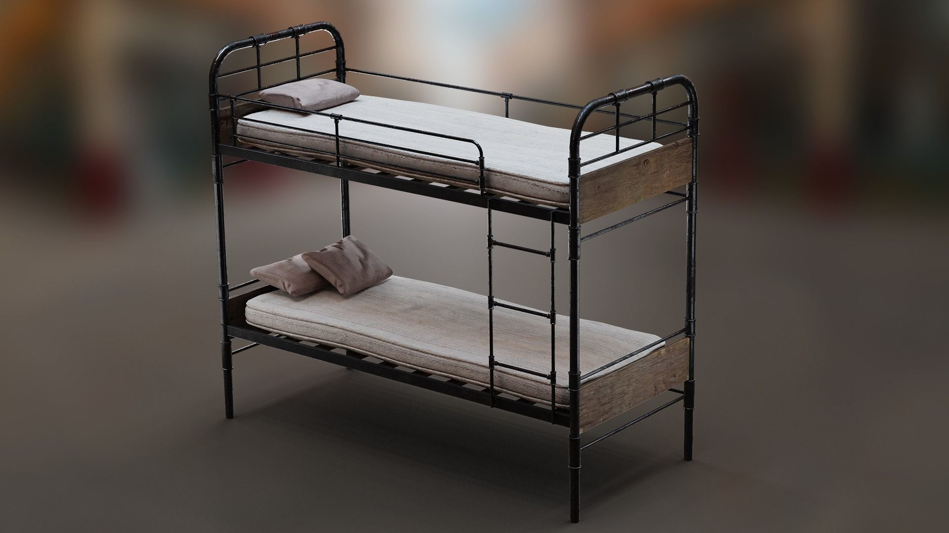 PBR Bunk Bed with Mattress and Pillows