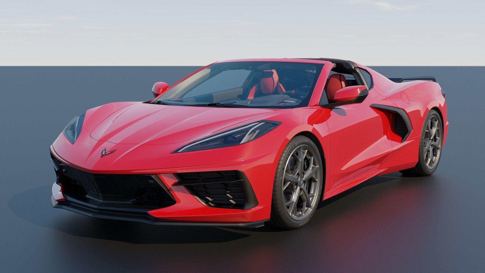 Chevrolet Corvette C8 2020 Stingray outroof 3D model