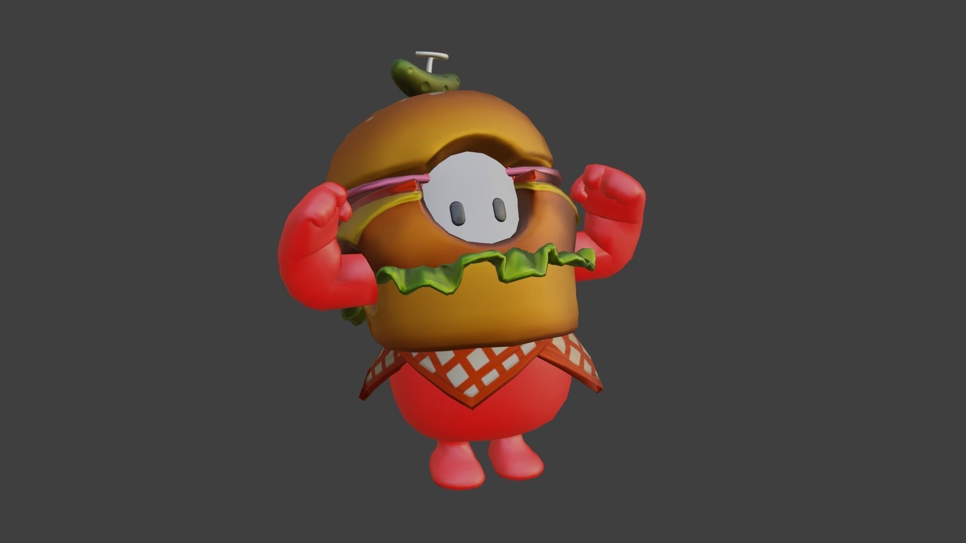 Burger Fall Guys 3d Model