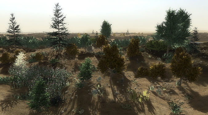 24 afghan vegetation models for games 3d model low-poly max obj mtl 3ds fbx dae 1
