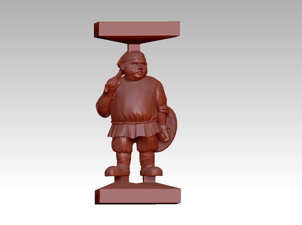 Fat funny man sculpture