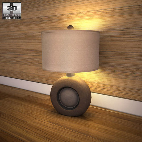 ashley havianna table lamp 3d model low-poly max obj 3ds fbx mtl 1