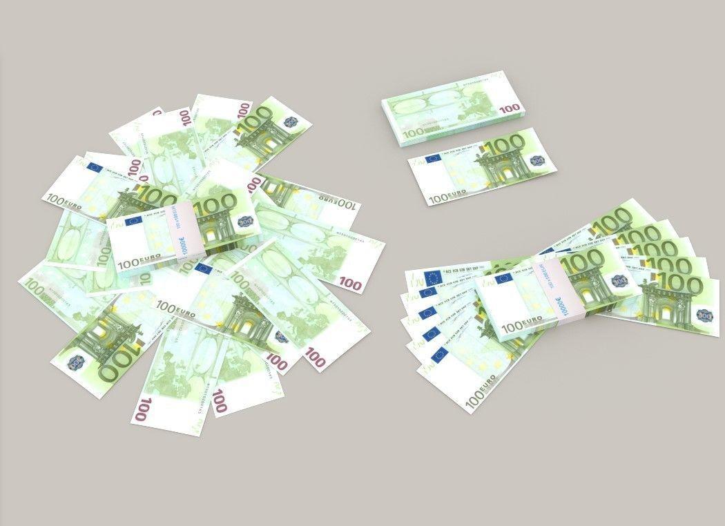 100 euro banknote packs